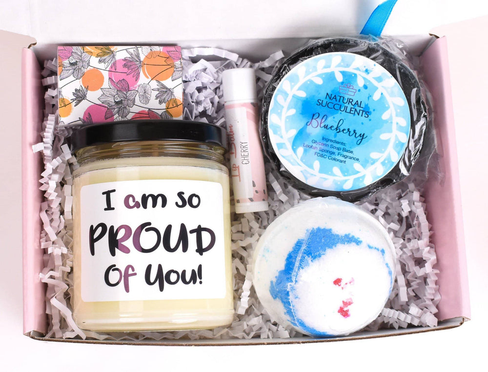 Spa Gift For Women - Congratulations - I am so proud of you - Promotion Gift - Graduation Gift - Gift For Her - Self Care Soy Candle (XPL3)