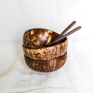 Repurposed Coconut Bowl & Spoon