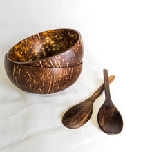 Load image into Gallery viewer, Repurposed Coconut Bowl & Spoon