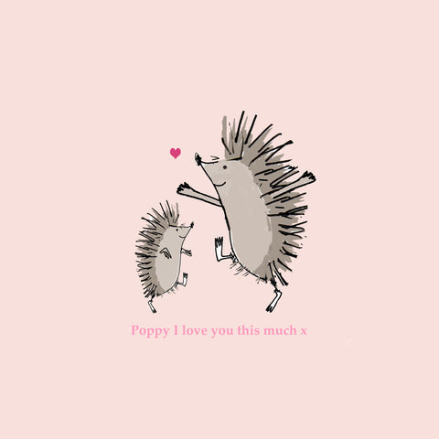 HEDGEHOG LOVE PINK