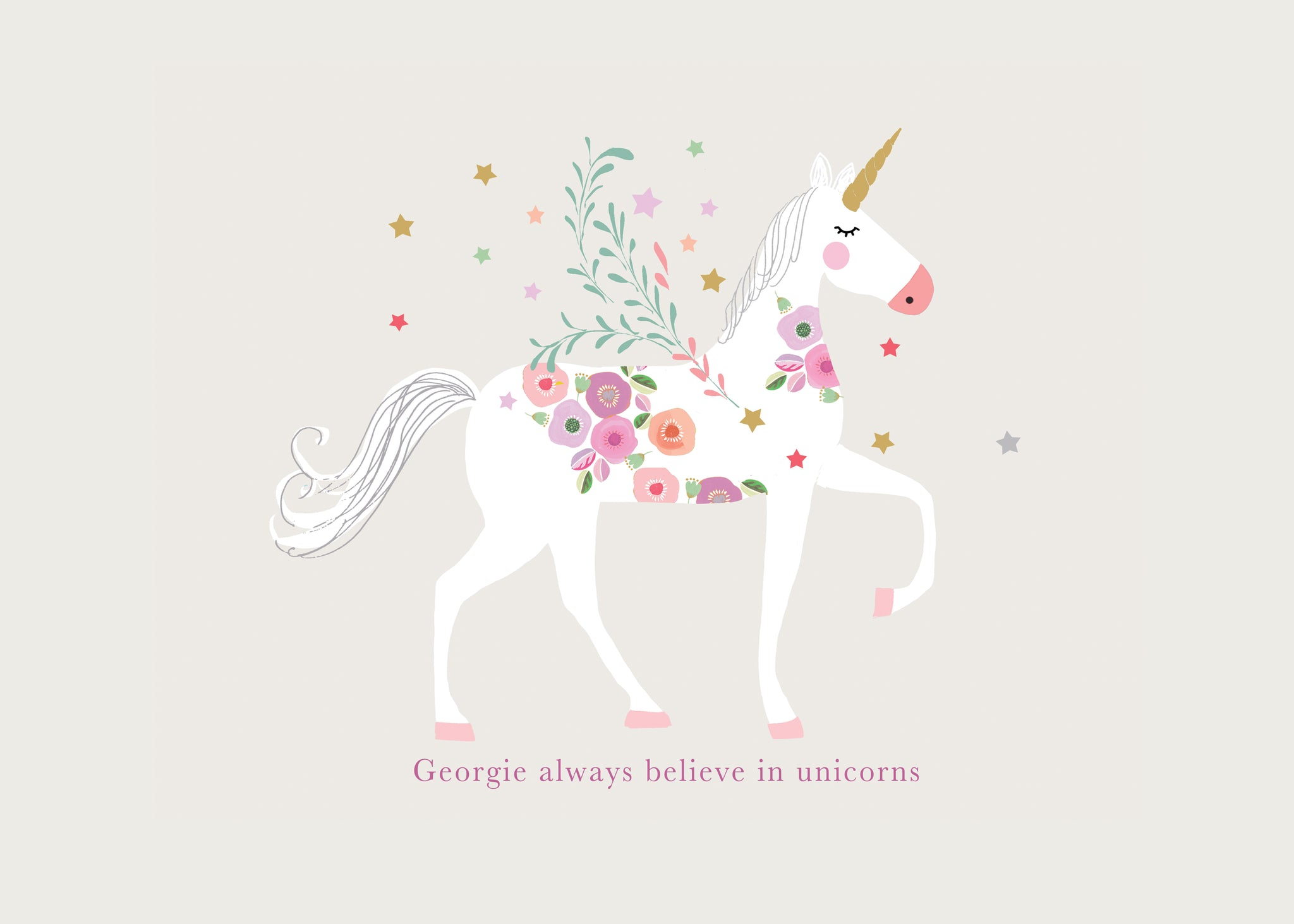 UNICORN & FLOWERS