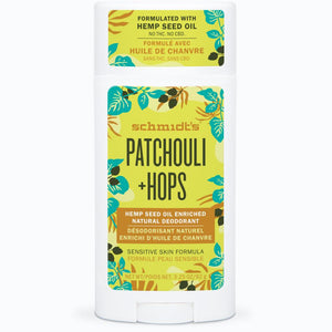 Patchouli + Hops Hemp Seed Oil Enriched Deodorant Stick