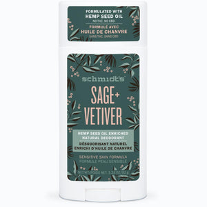 Sage + Vetiver Hemp Seed Oil Enriched Deodorant Stick