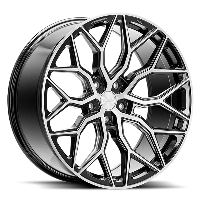 <b>Vossen</b> Hybrid Forged HF-2 -<br> Brushed Gloss Black