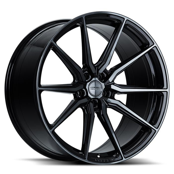 <b>Vossen</b> Hybrid Forged HF-3 -<br> Double Tinted Gloss Black