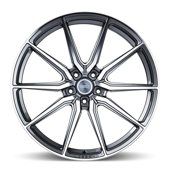 <b>Vossen</b> Hybrid Forged HF-3 -<br> Gloss Graphite Polished