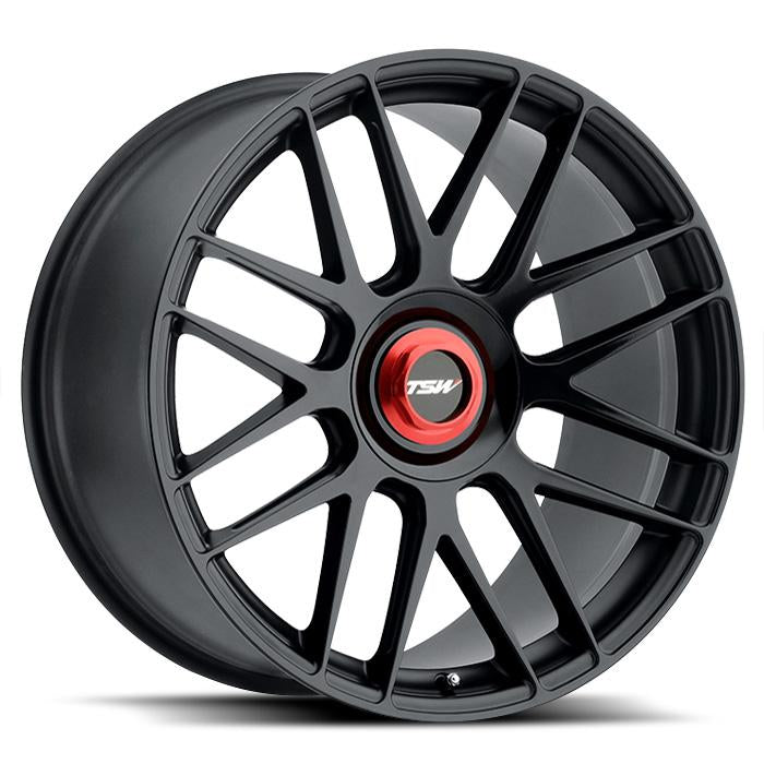 <b>TSW</b> Hockenheim-T -<br> Double Black w/ Ball Milled Spoke