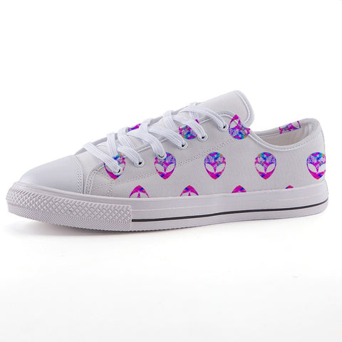 Hella Bella Low-top Alien Print Canvas Shoes