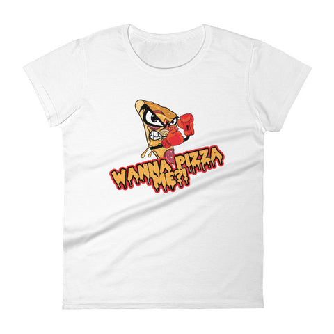 Hella Bella Gear WANNA PIZZA ME?!  Print Women's short sleeve t-shirt
