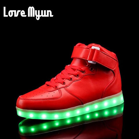 LED Rechargeable Light Up High Tops