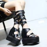 High Heel Gladiator Platforms