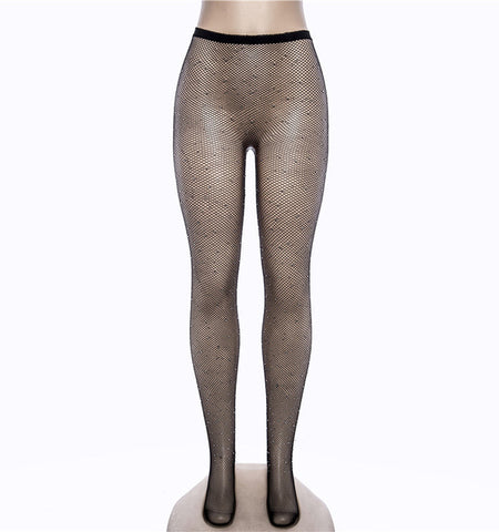 Sparkle Fishnet Nylon Tights