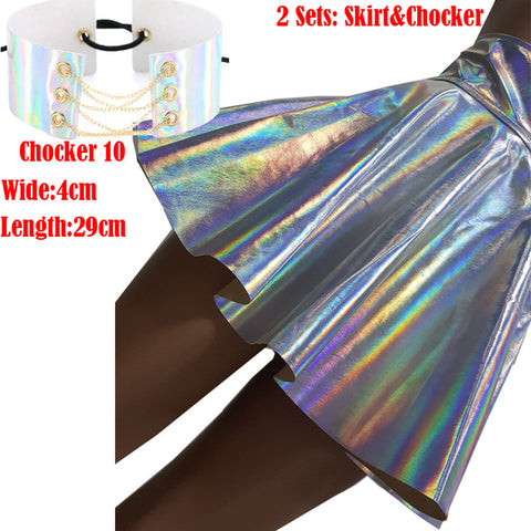 Holographic Rave Skirt