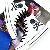 Skull Print Canvas High Tops