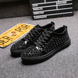 Lace Up ALL Over Rivet Spike Low Cut Sneakers