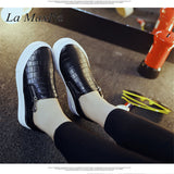 Low Platform Zip Up Loafers