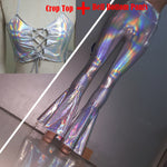 Bell Bottom Shiny Rave Leggings - Multiple Styles