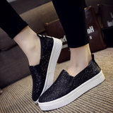 Shiny Women Flats Casual Shoes Breathable Loafers R