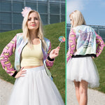 Streetstyle Princess Crown Printed Bomber Jacket