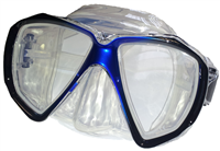BEAVER Blue Focus Silicone Dive Mask