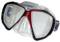 BEAVER Red Focus Silicone Dive Mask