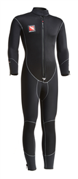 BEAVER 5 MM OCEAN-FLEX ONE PIECE SEMI-DRY SUIT  BLACK WITH GREY STITCHING