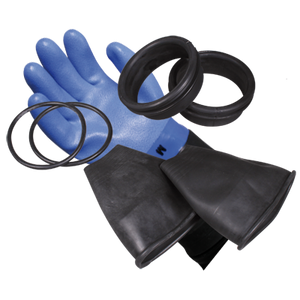 OMS - OMS Ring System - complete set (gloves, inner lining, rings, latex sleeve collar with rolled edge, O-rings)