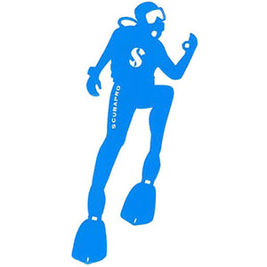 SCUBAPRO DIVER STICKER BLUE