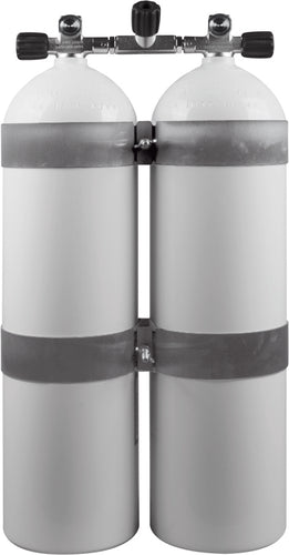OMS Twinset AL Cylinders , 80cf white (~ 11,1liter), 207 bar, DIR Style
