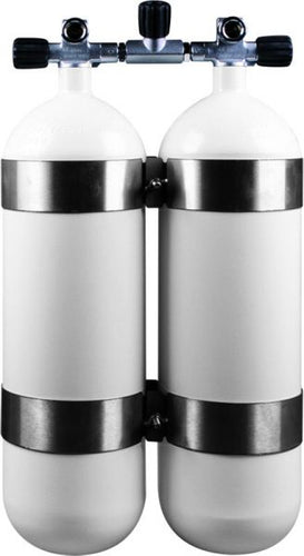 OMS - Twinset Steel Cylinders 10 litre, 300 bar, DIR Style