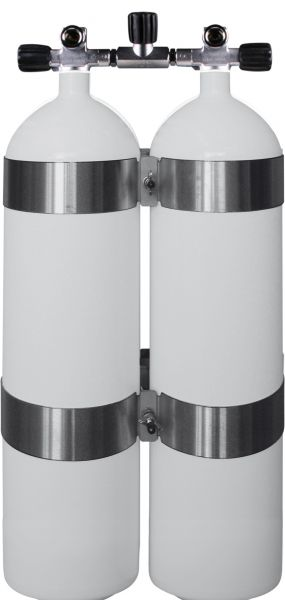 OMS bands - Twinset Steel Cylinders 12 litre CONCAVE, long, 230 bar, DIR Style