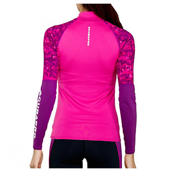 SCUBAPRO UPF 50 LONG SLEEVE WM FLAMINGO RASH GUARD M
