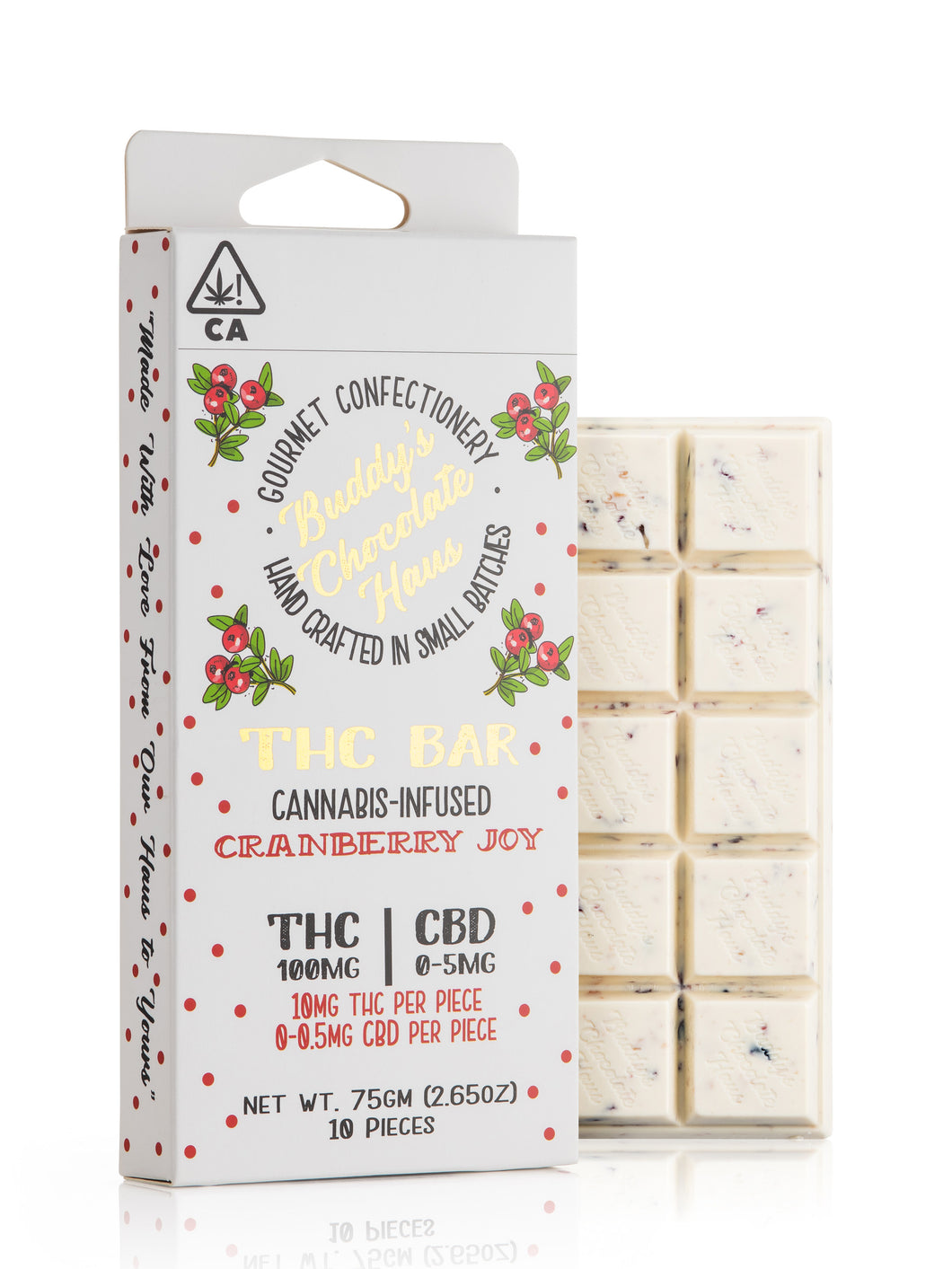 Cranberry Joy THC Bar 100mg