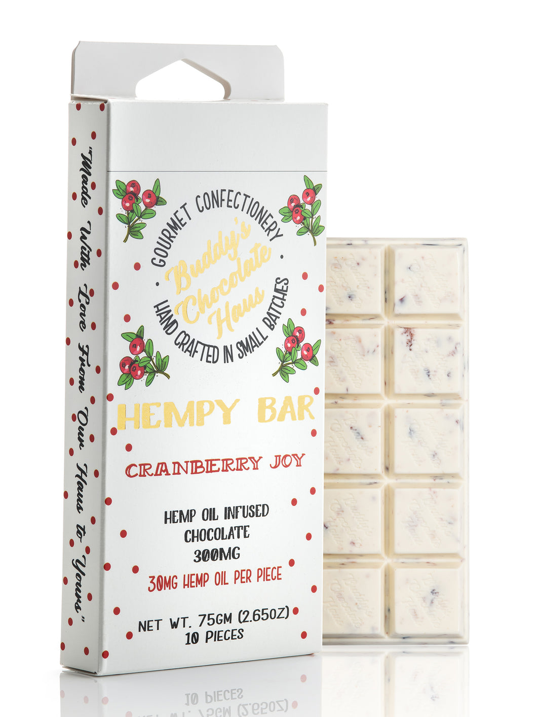 Cranberry Joy Hempy Bar 300mg