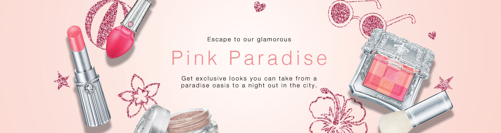 Escape to our glamorous Pink Paradise. Get exclusive looks you can take from a paradise oasis to a night out in the city.