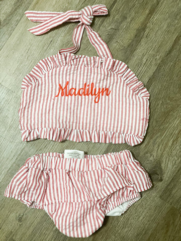 Madilyn Swim Seersucker 5t