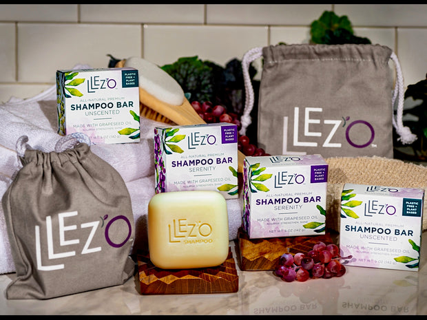 LLez'o Eco-Friendly Value Bundle - LLez'o Premium Shampoo Bars Salon Quality Hair Care