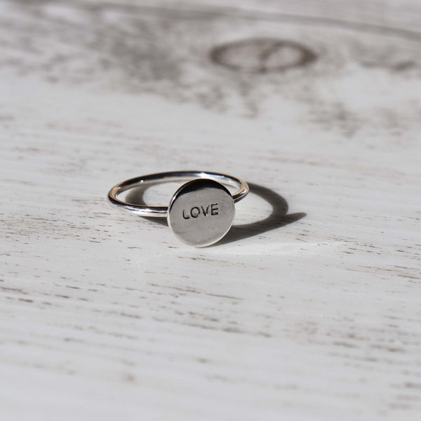 LOVE Ring - Vintage Rose Handmade Jewellery
