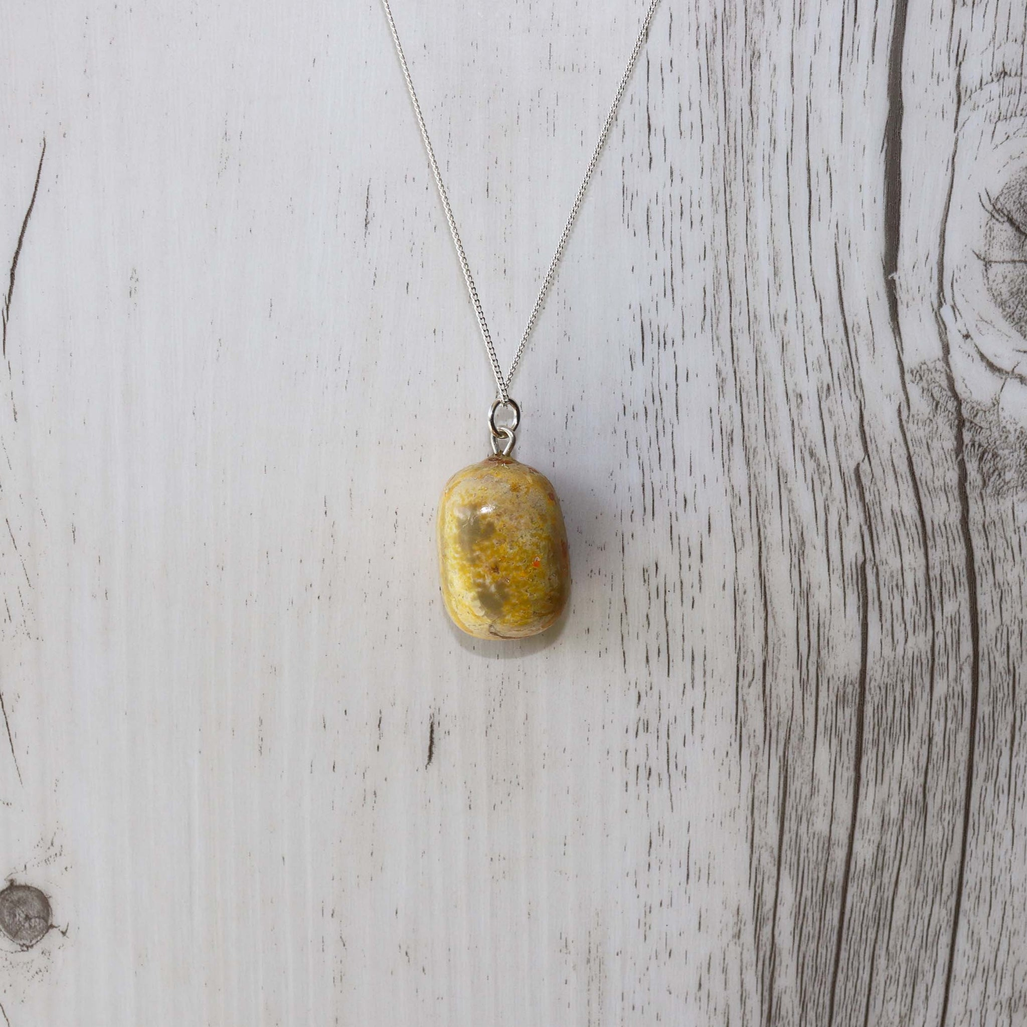 Bumble Bee Jasper Crystal Necklace - Vintage Rose Handmade Jewellery