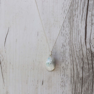 Moonstone Crystal Necklace - Vintage Rose Handmade Jewellery