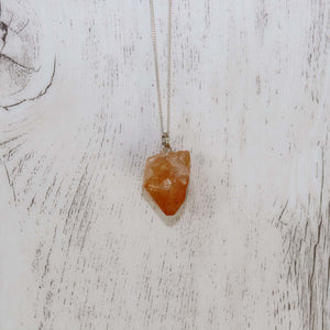 Citrine Crystal Necklace - Vintage Rose Handmade Jewellery