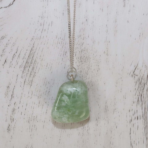 Jade Crystal Necklace - Vintage Rose Handmade Jewellery