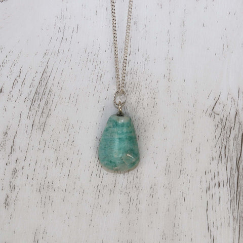 Amazonite Necklace - Vintage Rose Handmade Jewellery