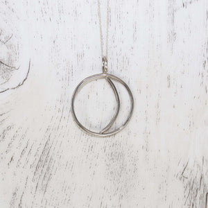 Silver Moon Cut Out Necklace - Vintage Rose Handmade Jewellery