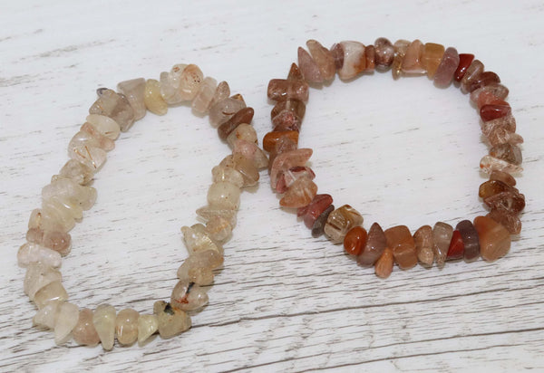 Rutilated Quartz Bracelet - Vintage Rose Handmade Jewellery