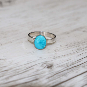 Turquoise Silver ring - Vintage Rose Handmade Jewellery