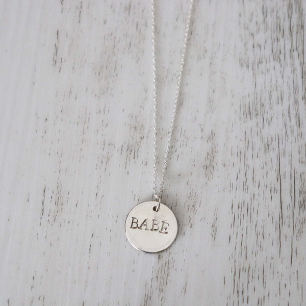BABE Necklace - Vintage Rose Handmade Jewellery