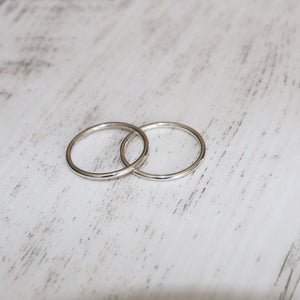 Thin Stacker Ring - Vintage Rose Handmade Jewellery