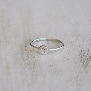 Initial Ring - Vintage Rose Handmade Jewellery