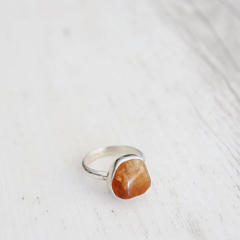 Citrine Ring - Vintage Rose Handmade Jewellery